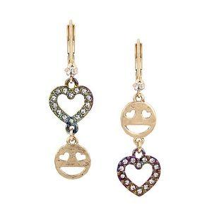Betsey Johnson Emoji Earrings